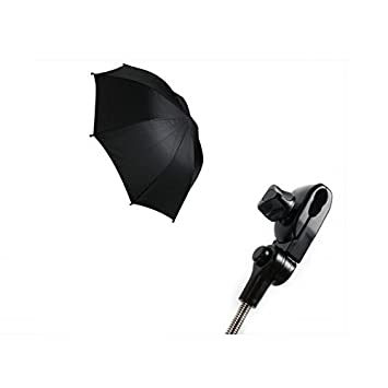 First Steps Pram Buggy Pushchair Universal Automatic Parasol Umbrella Sunshade (Black)
