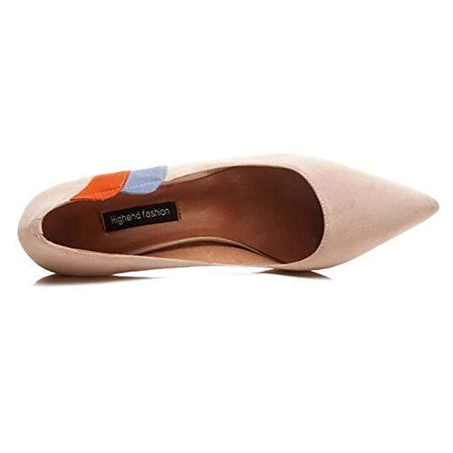 Women's Shoes Almond Stiletto Suede Heels Black ZHZNVX Heel Comfort Spring Black ZBwFBqT