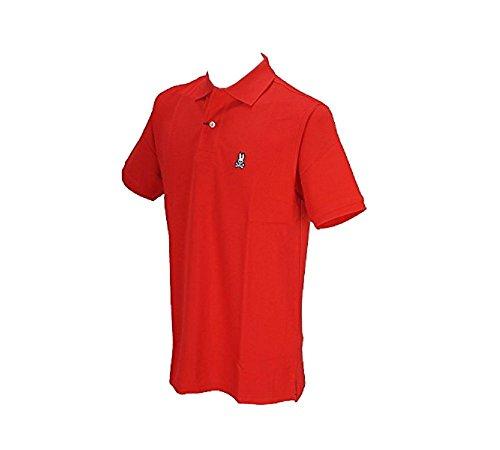 サイコバニー PSYCHO BUNNY 半袖シャツ?ポロシャツ 半袖ポロシャツ レッド M