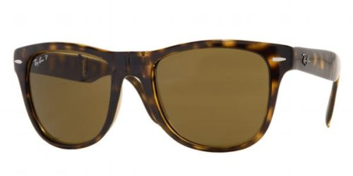 Gafas de sol Ray-Ban RB4105 Wayfarer, plegables, no polarizadas, 50 mm Light Havana w/ Crystal Brown Polarized Lenses 50 mm