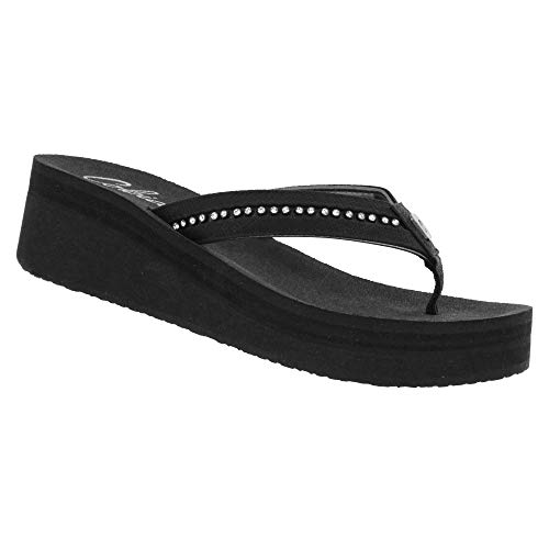 Cobian Women's Tiffany II Black Flip Flops, ()