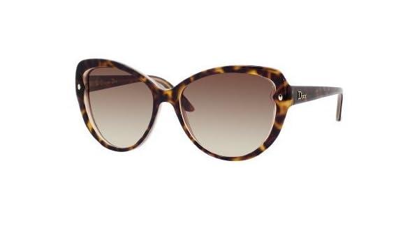 84050de4c86 Amazon.com  Dior xlt Havana Pondichery 1 Cats Eyes Sunglasses  Clothing