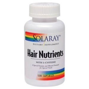 solaray hair nutrients with l cysteine 120 capsules health personal care. Black Bedroom Furniture Sets. Home Design Ideas