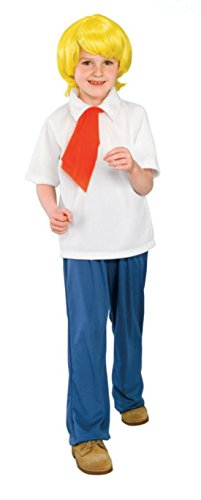 Boys Scooby Doo Fred Kids Child Fancy Dress Party Halloween Costume, M (Fred Halloween Costumes)