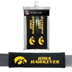 NCAA Iowa Hawkeyes Seat Belt Pads, One Size (Hawkeye Belt)