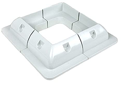 Spark ABS corner plastic mounting brackets for fixing solar panels to campervans, Black White motorhomes, caravans, boats or any other roofs flat surfaces (Black) (White)