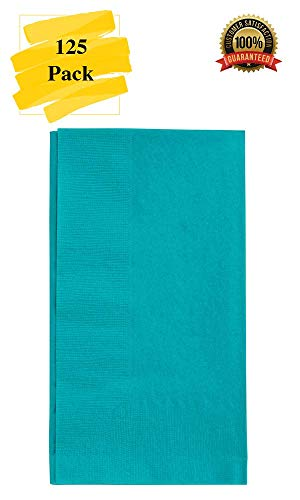 (MM Foodservice 125 Count 2 Ply Paper Dinner Napkins perfect for Weddings, Parties, Dinners or Events (TEAL))