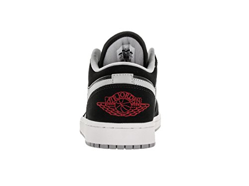 Nike Jordan Heren Air Jordan 1 Low Zwart / Gym Rood / Wolf Grijs / Wit Basketbalschoen 11 Heren Ons