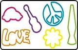 Zany Bandz Retro 24-Pack Bold & Bright + Free Moonz & Starz DayGlow Necklace To Wear Your Zany Bandz On!!! offers