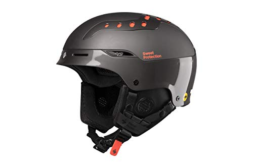 Sweet Protection Switcher MIPS Ski and Snowboard Helmet, Gloss Black Chrome, Small/Medium (Ski Helmet Chrome)