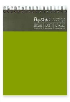 Flip-Sketch Book 9X12 Fern by GLOBAL ART