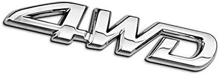 Wheel Drive Logo Premium Car Side Fender Rear Trunk Emblem Badge Sticker Decals for Toyota RAV4 Aluminum 4WD Four