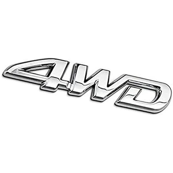 Metal  4x4 Silver Plating Logo Car SUV Sticker Body Rear Trunk ABS Emblem Badge