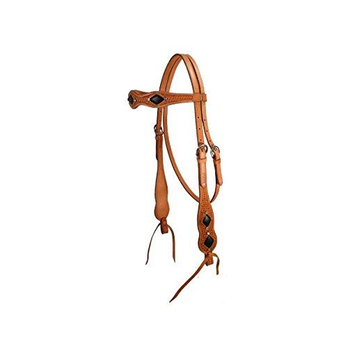 Tahoe Tack Black Diamond Stingray Browband Horse Headstall USA Leather Full Horse Size