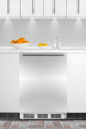 ALFB621SSHH 24'' All Freezer With Horizontal Thin Handle Built-In Capable Stainless Steel Door Three Slide-Out Drawers Manual Defrost Adjustable Thermostat & In Stainless