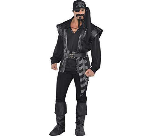 (Amscan 844215 Adult Dark Sea Scoundrel Pirate Costume, Standard,)