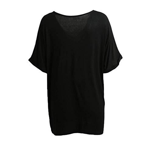 Haut Bouffant Top Manche Shirt Manches V Elgante Courtes Qualit Uni Tee Schwarz Et Mode Bonne Shirt Chic Cou Femme Casual Tshirt De Branch F1xIgnF6P