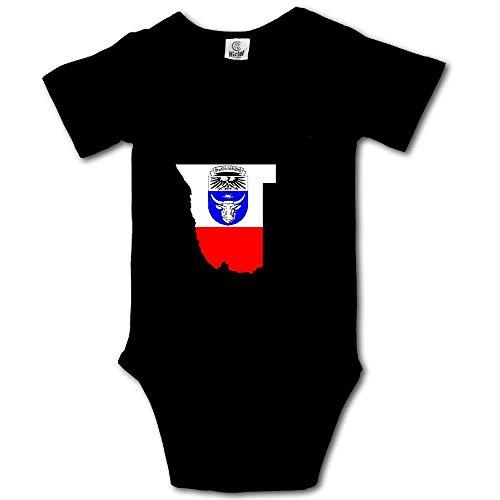 MMJQ6 German South-West Africa Flag Map Baby Newborn Crawling Suit Short-Sleeve Onesie Romper Jumpsuit by MMJQ6