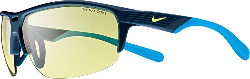 Nike EV0797-404 Run X2 E Sunglasses (One Size), Blue Force/Blue Lagoon, Volt - Force Sunglasses