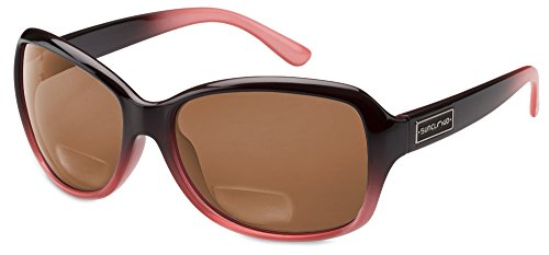 - Suncloud Mosaic Polarized Bi-Focal Reading Sunglasses in Black Fade & Brown Lens +2.75