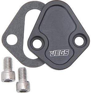 Fits Chevy BB Big Block 396 454 /& Ford Steel Fuel Pump Block Off Plate Black