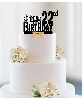 Outstanding Item022Ctgr Happy 22Nd Birthday Elegant Cake Decoration Topper Personalised Birthday Cards Sponlily Jamesorg
