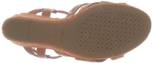 Geox - Sandalias de cuero para mujer Naranja (Orange (C6003))