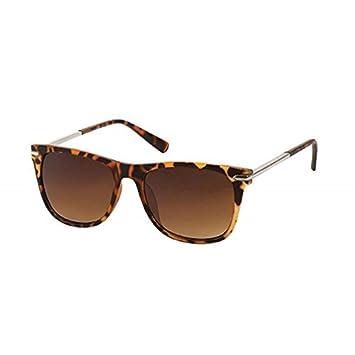 Chic-Net Sonnenbrille Herren Damen 400 UV getönt Metallbügel Nahtrand braun WwJRc56Z