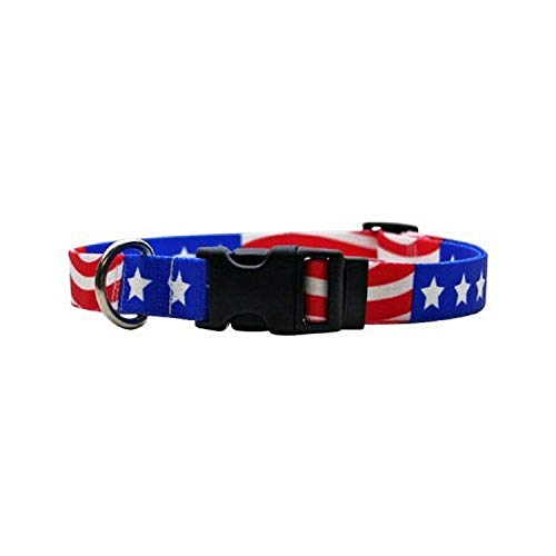 Americana Dog Collar – Size Cat 8″ to 12″ Long – Made In The USA