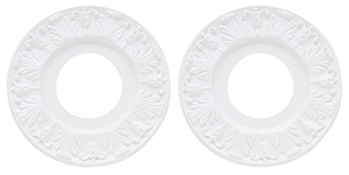 Westinghouse 7702700 Victorian Ceiling Medallion, 10'', White Finish - 2 Pack by Westinghouse