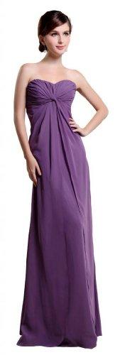 Orifashion Morado Gasa de dos piezas de vestido de fiesta (Modelo edsher0627)