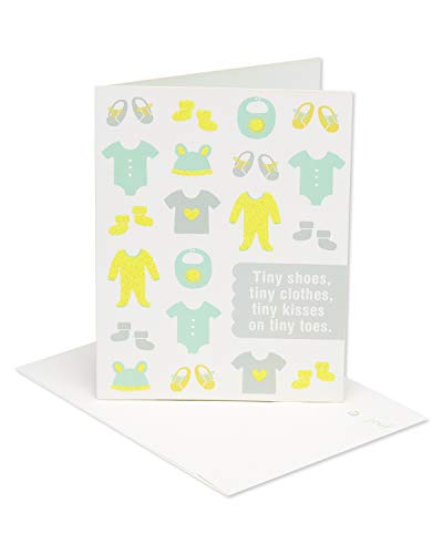American Greetings Happy Shower New Baby Congratulations Greeting Card with Glitter