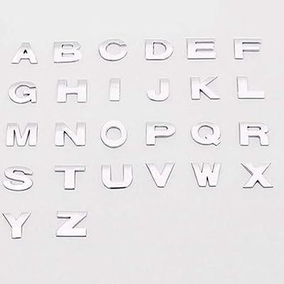 1Pc Alliage de Zinc 3D Lettre Nombre Métal Stylo De Voiture Styling Badge Emblème De Voiture Decal pour Ford Mercedes-Benz BMW Volkswagen Passat Audi Diesel Décapotable 3 (Couleur: 2)