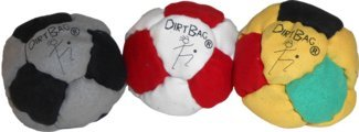 Dirtbag 14-Panel Special Footbag/Hacky Sack 3-Pack by DirtBag