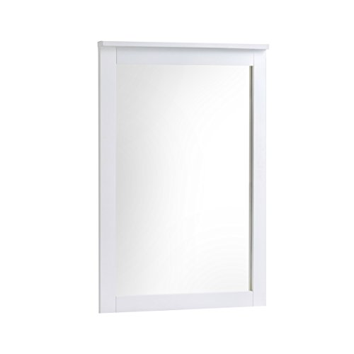 CorLiving BAF-610-M Ashland Dresser Mirror, Snow White