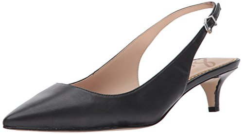 Sam Edelman Women's Ludlow Pump, Black Leather, 8.5 M US -