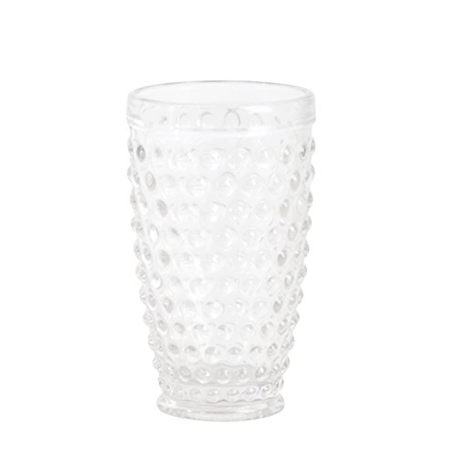 SARO LIFESTYLE SE006.C Hobnail Highball Glass, Clear, 13.53 oz (Set of 6 pcs) from SARO LIFESTYLE