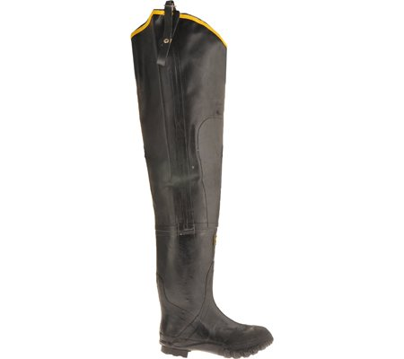 Herco Heavy Duty Rubber Hip Waders - Men's Size 15 (Black)