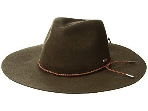 - San Diego Hat Company Women's Braided Trim Floppy Fedora Hat, Brown, One Size
