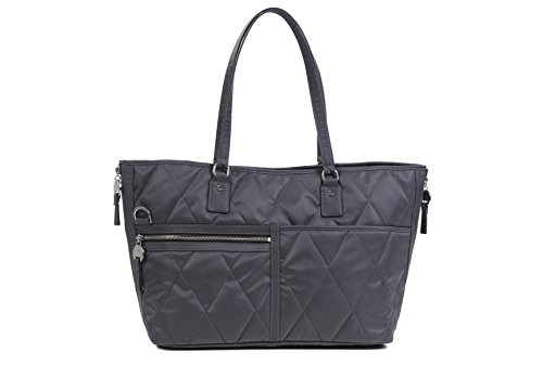 Danzo Diaper Bags Lexington, Slate with Burnt Orange Interior Lexington Diaper Bag