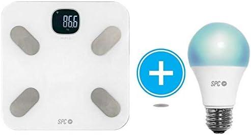 SPC Kit báscula análisis corporal y bombilla inteligente Smart Home compatible con Amazon Alexa y Google Home: Spc-Internet: Amazon.es: Electrónica