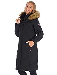 Polar Glacier Woman's Zipper-Front Long Premium Down Parka