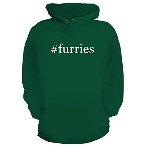 BH Cool Designs #Furries - Graphic Hoodie Sweatshirt, Green, Large -