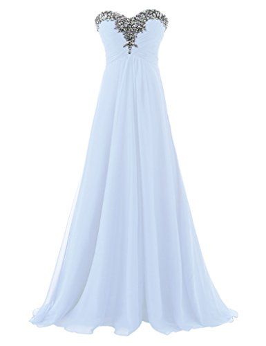 Weiß Schatz Langes Erosebridal Abendkleider Trägerloses Ballkleid Formale FOOqwx1