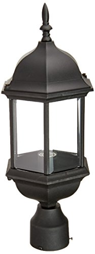 Designers Fountain 2976-BK Devonshire Outdoor Post Lanterns, 20 inch, Black (Solar Column Lights Outdoor)