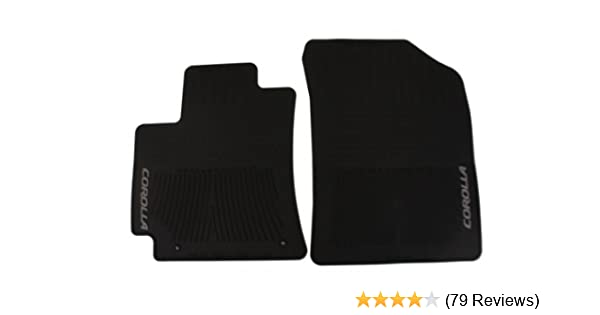 Genuine Toyota Accessories PT908-02110-20 Front and Rear All-Weather Floor Mat - Black Set of 4