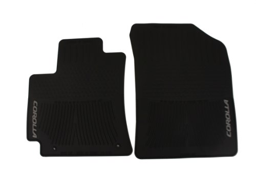 Genuine Toyota Accessories PT908-0200W-02 Front All-Weather Floor Mat - (Black), Set of 2 ()