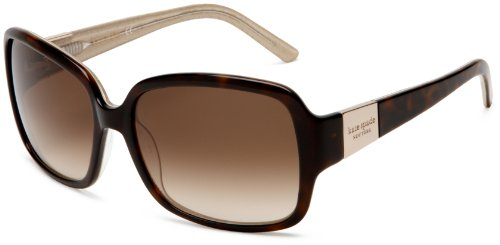 Kate Spade New York Women's Lulu Rectangular Sunglasses, Tortoise Gold Frame/Brown Gradient Lens, 54 mm