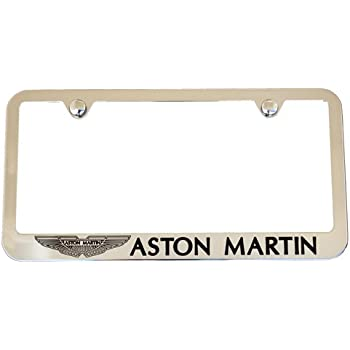 Amazon Com Aston Martin Chrome License Plate Frame