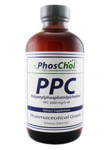 PhosChol PPC Liquid Concentrate 8 Ounces Gold Standard PPC (Polyenylphosphatidylcholine) 100 Percent Purified and Pharmaceutical Grade